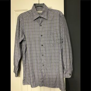 Ermenegildo Zegna designer striped M dress shirt